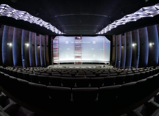 In the cinema C1 Braunschweig room 8, a new screen will be set up